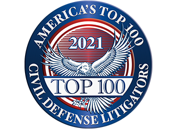 America's Top 100 Civil Defense Litigators Badge for Galloway, Wettermark, & Rutens, LLP